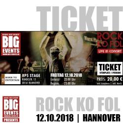 ROCK KO FOL 2018 - Hannover - Ticket/Karte