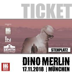DINO MERLIN Live Konzert 2018 in München - Stehplatz Ticket/Karte