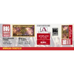 BIG SILVESTERGALA NIGHT  -SITZPLATZ Ticket/Karte